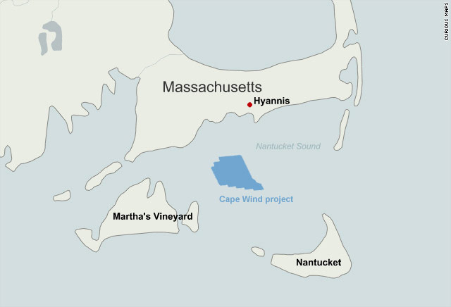 CAPE WIND The Collapse Of The United States Inaugural Offshore - Map of wind turbines in us