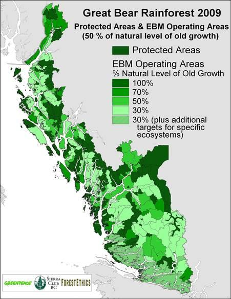 Figure 1. Great Bear Rainforest 2009 [map]. (2009, April 2). Retrieved from http://www.savethegreatbear.org/files/maps/Mar_2009-status.jpg
